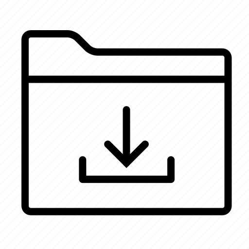 arrow, directory, download, download folder, folder, folders, save icon