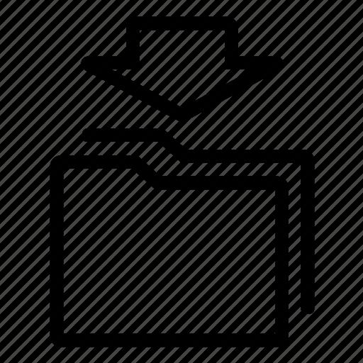 folder, guardar, paste, save icon