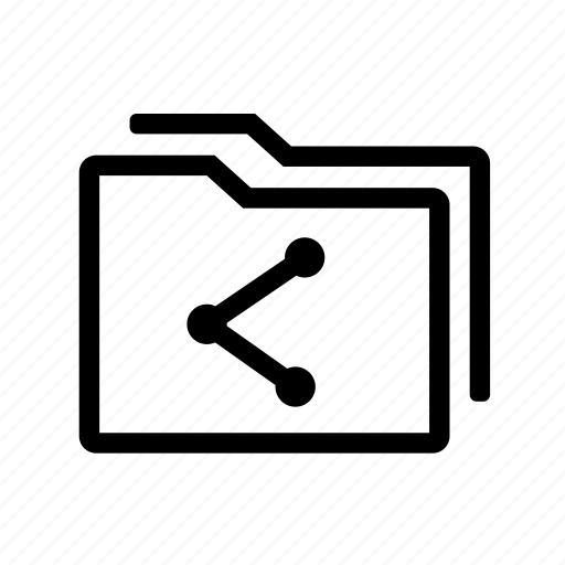 files, folder, folders, shared, social icon