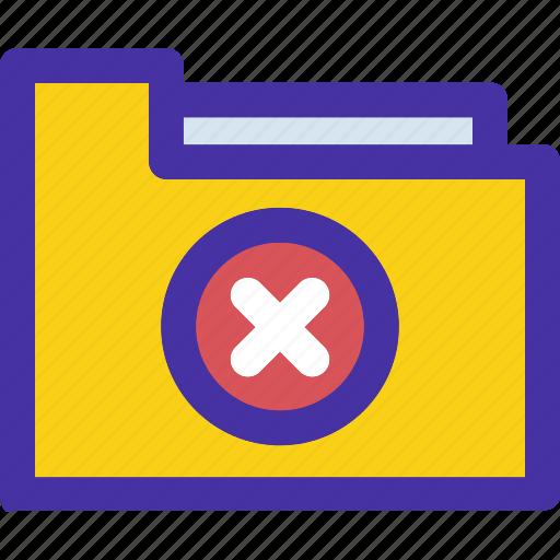 archive, delete, document, folder, minus, remove icon