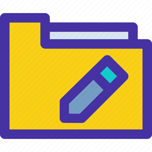 archive, document, edit, folder, pencil icon