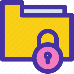 archive, document, folder, locked, protection, secure icon