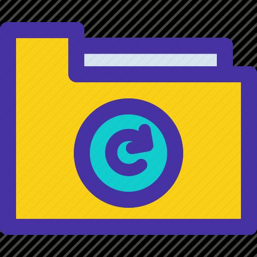 archive, document, folder, refresh, sync icon