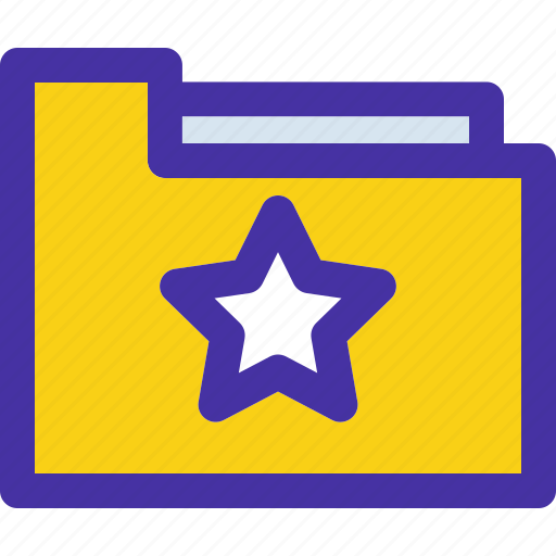 archive, document, folder, star, starred icon