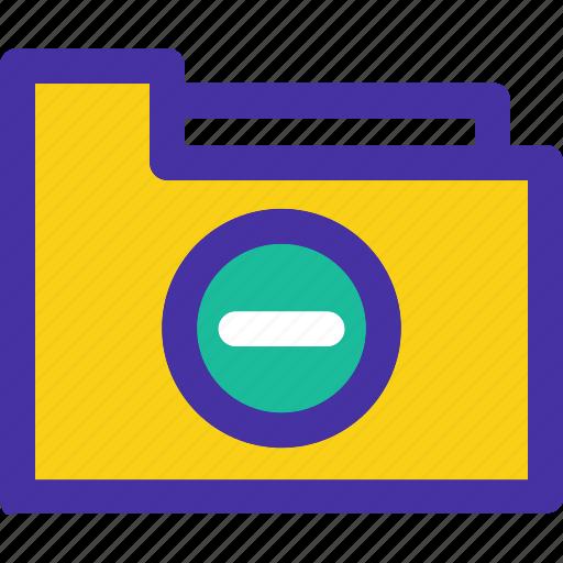 archive, document, folder, minus, remove icon