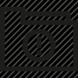 archive, document, error, folder, holder icon