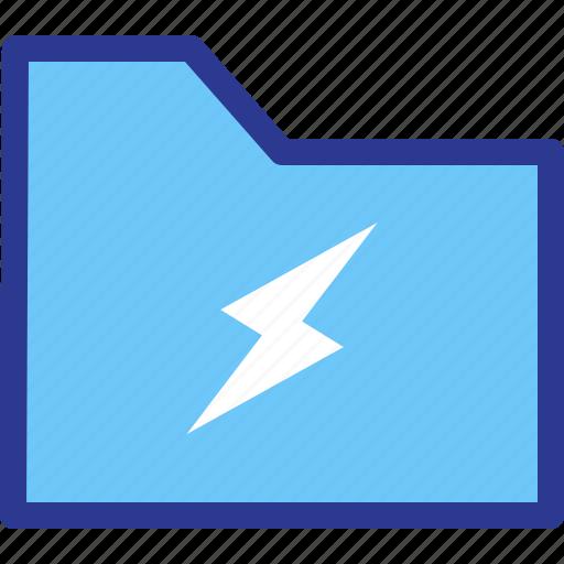archive, energy, file, folder, power icon