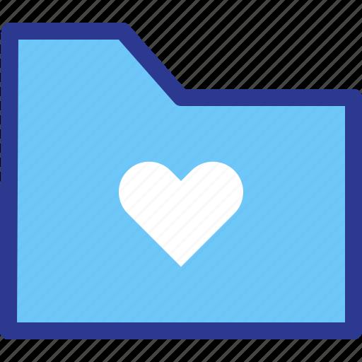archive, favorite, file, folder, heart, love icon