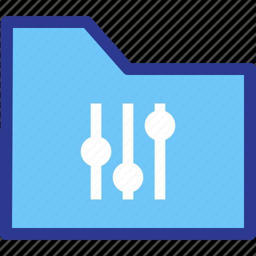 adjustment, archive, file, folder, settings icon