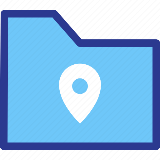 archive, file, folder, location, map, pin icon