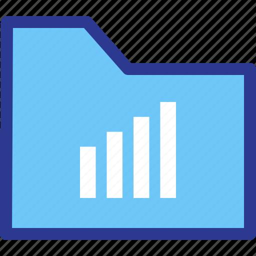 archive, file, folder, signal, statistic icon