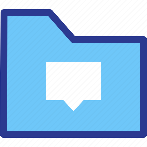 archive, chat, file, folder, messages icon