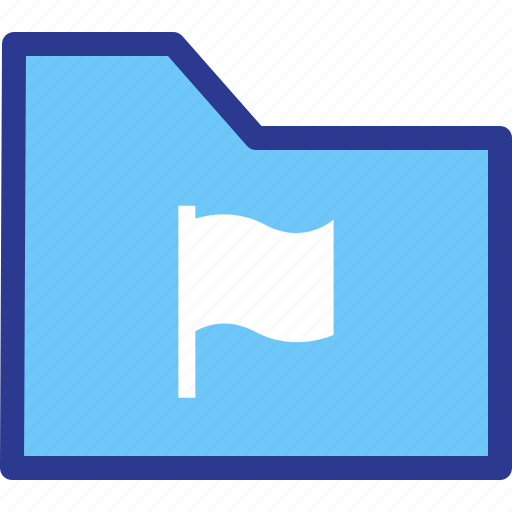 archive, bookmark, file, flag, folder icon