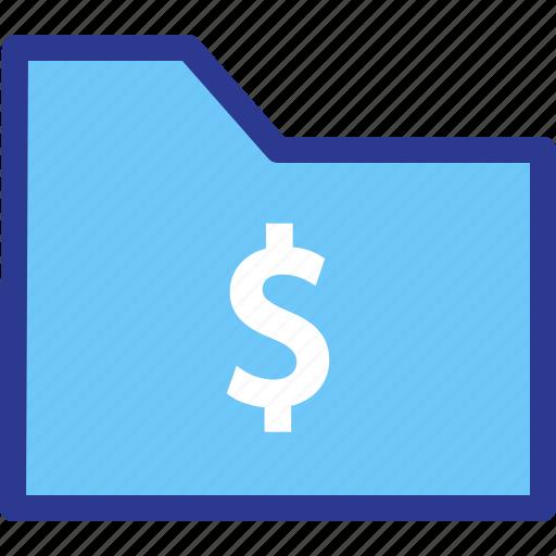 archive, dollar, file, folder, money icon