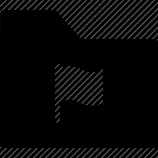 archive, bookmark, file, flag, folder icon