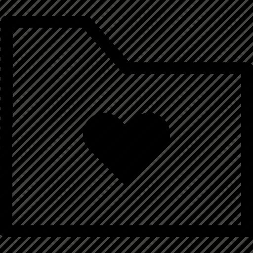 archive, file, folder, heart, love icon