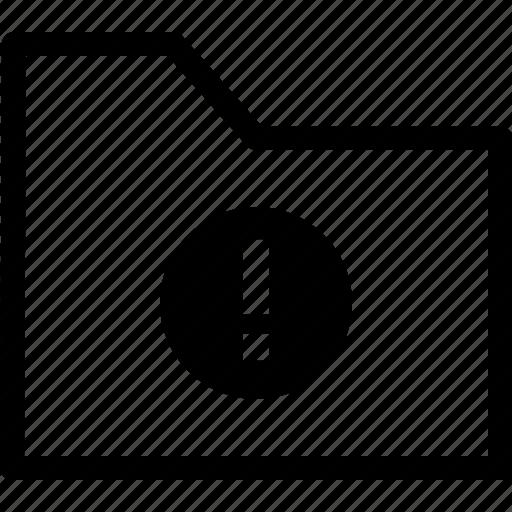 alert, archive, file, folder, warning icon