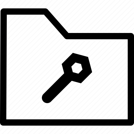 archive, file, folder, maintenance, settings icon