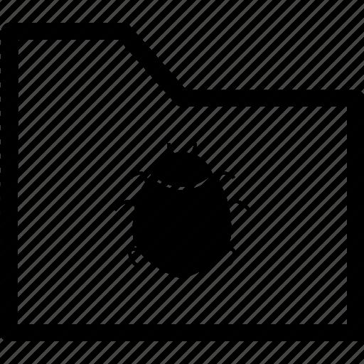 archive, bugs, file, fix, folder icon