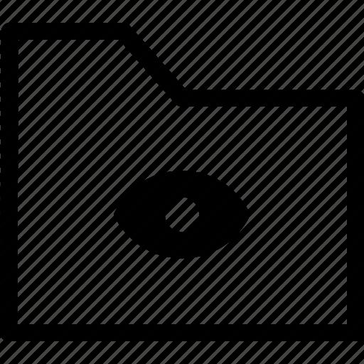 archive, eye, file, folder, watch icon