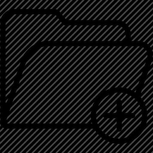 add, data, document, file, folder, storage icon