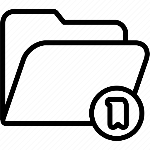 bookmark, data, document, file, folder, storage icon