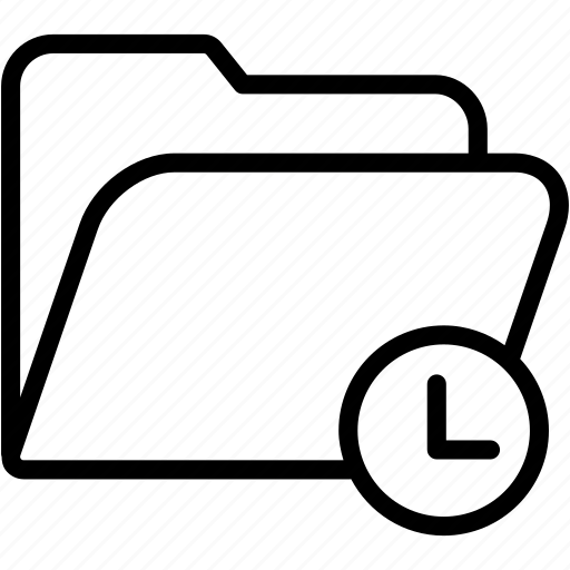clock, data, document, file, folder, storage icon