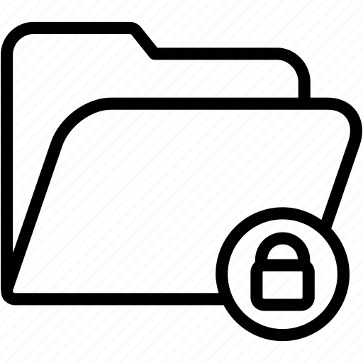 data, document, file, folder, lock, storage icon