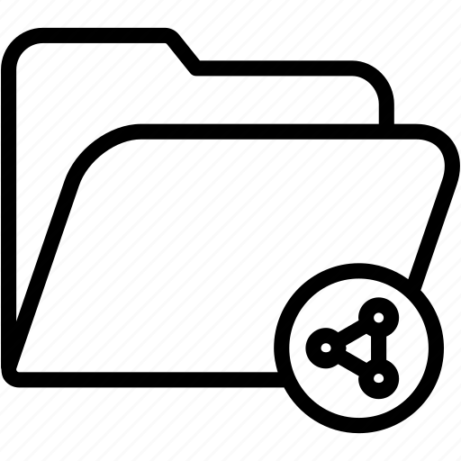 data, document, file, folder, share, storage icon
