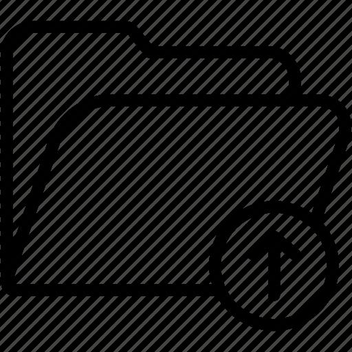 arrow, data, document, file, folder, storage, upload icon