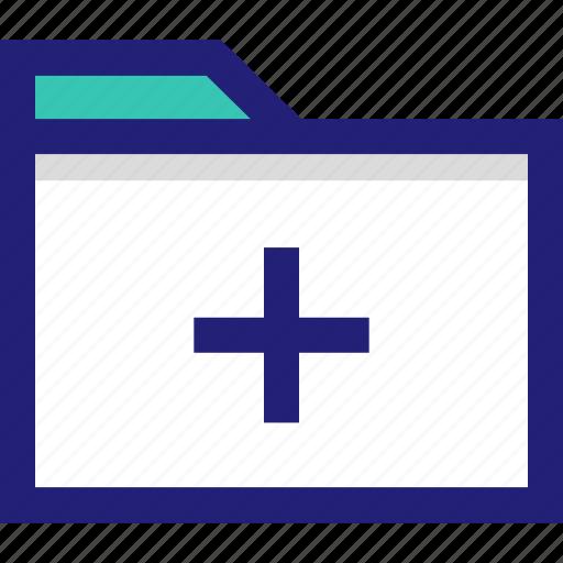 add, archive, file, folder, plus icon