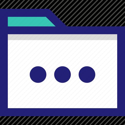 abstract, dots, files, loading, three icon