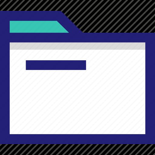 archive, file, folder, line icon