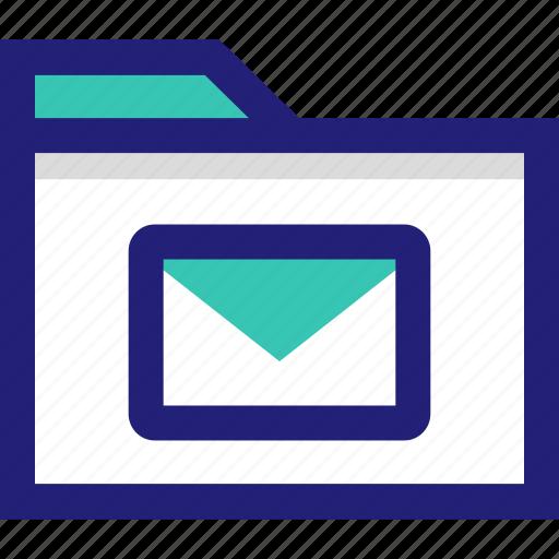 email, envlope, file, folder, mail icon