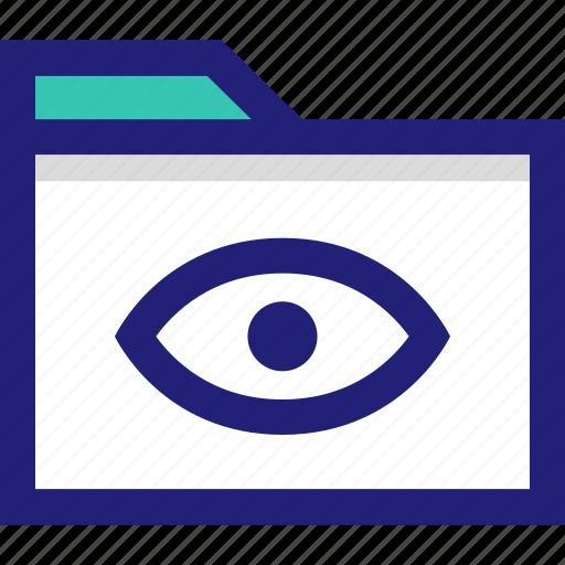 archive, eye, folder, views icon