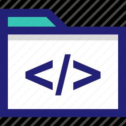 css, file, folder, html, web icon