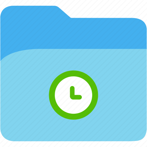 clock, data, disk, explorer, file, folder, storage icon