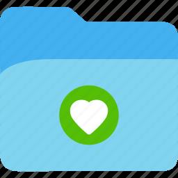 data, disk, explorer, file, folder, heart, storage icon
