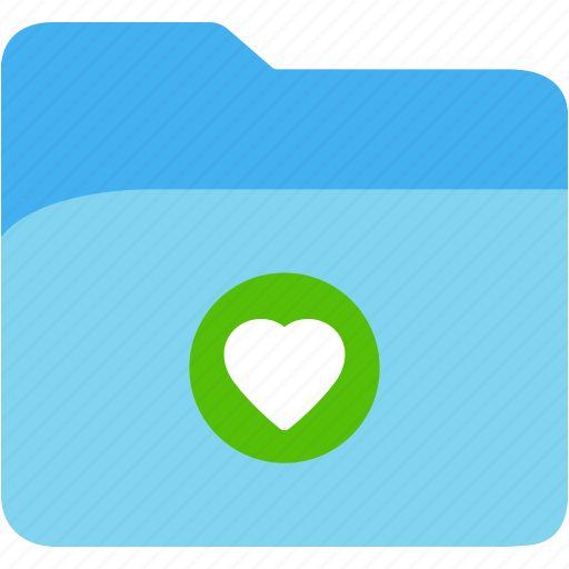 data, disk, explorer, file, folder, heart, storage icon