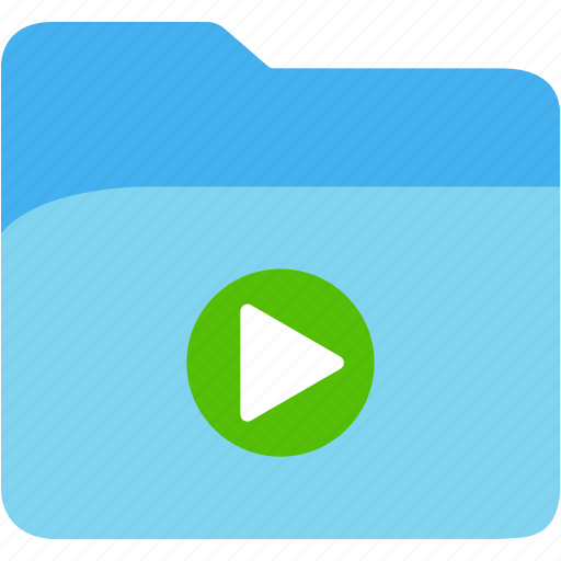 data, disk, explorer, file, folder, play, storage icon