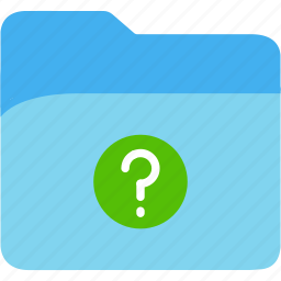 data, disk, explorer, file, folder, mark, question, storage icon