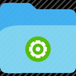 data, disk, explorer, file, folder, gear, storage icon