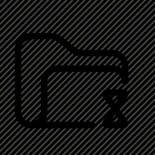 catalog, clock folder, directory, document case, folder, index, jacket, load folder, loading, loading folder, portfolio, roll, schedule, sked, time, warning icon