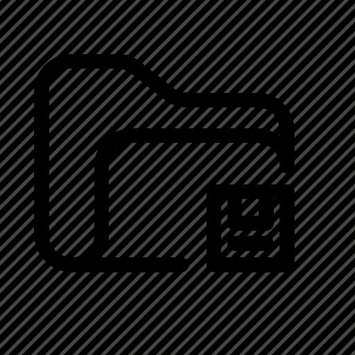 catalog, directory, document case, floppy, floppy folder, folder, guardar, index, jacket, portfolio, roll, save, save folder, schedule, sked, warning icon