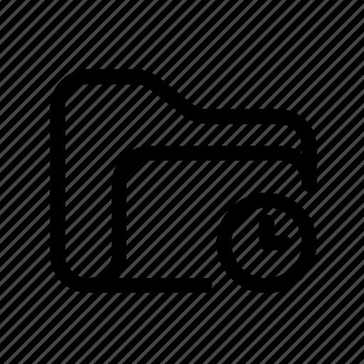 catalog, clock folder, directory, document case, folder, folder temp, index, jacket, portfolio, roll, schedule, sked, temp, temp folder, time, time folder, timer, warning icon