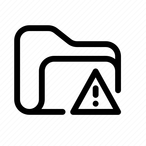 attention folder, catalog, directory, document case, error folder, folder, index, jacket, portfolio, problem folder, roll, schedule, sked, warning, warning folder icon
