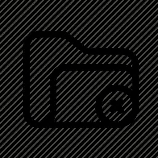 catalog, close, close folder, delete, delete fodler, directory, document case, erase, erase folder, folder, index, jacket, portfolio, roll, schedule, sked, warning icon