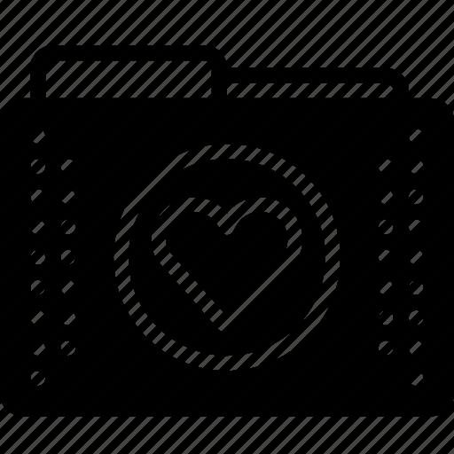 favourite, files, folder, folders, heart icon