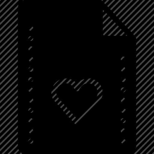 favourite, file, files, folders, heart, solid icon