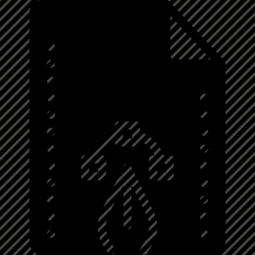 file, files, folders, pen, solid icon